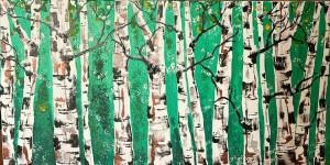 Green bright trees