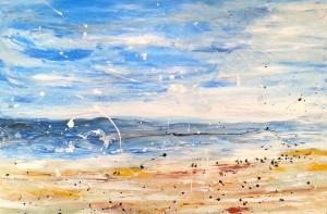 Wild wind on Beach