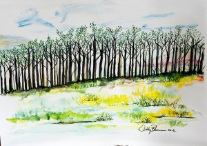 trees- watercolor big