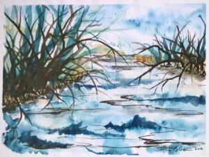 Watercolor -reeds