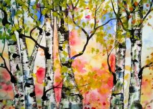 Dawn trees