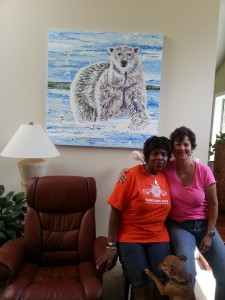 Bear with Gail and Donna