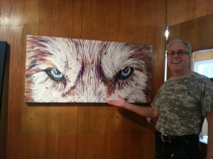 Bob with his painting!